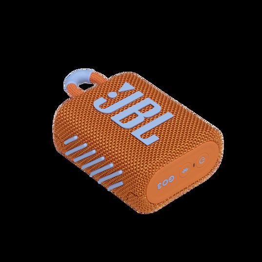 JBL GO 3 - Orange - Portable Waterproof Speaker - Detailshot 3