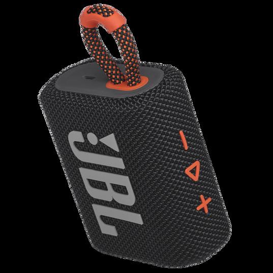 JBL GO 3 - Black / Orange - Portable Waterproof Speaker - Detailshot 2
