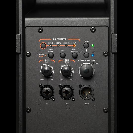 "JBL IRX108BT - Black - Powered 8"" Portable Speaker with Bluetooth® - Detailshot 1"