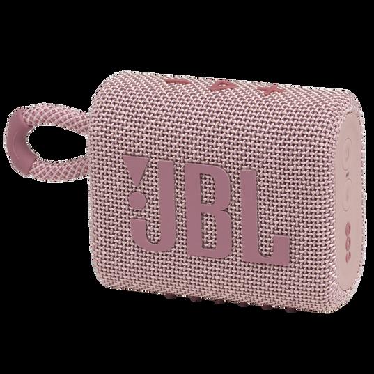JBL GO 3 - Pink - Portable Waterproof Speaker - Hero
