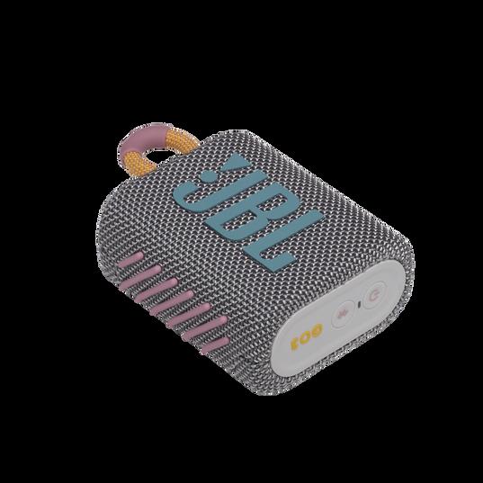 JBL GO 3 - Grey - Portable Waterproof Speaker - Detailshot 3