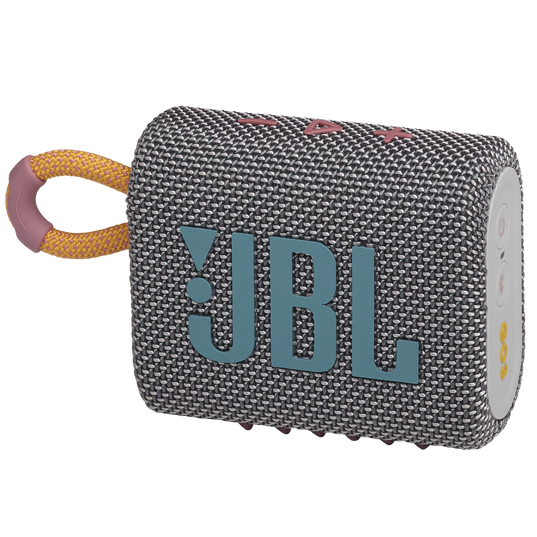JBL GO 3 - Grey - Portable Waterproof Speaker - Hero