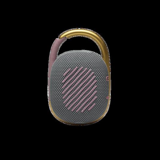 JBL CLIP 4 - Grey - Ultra-portable Waterproof Speaker - Back