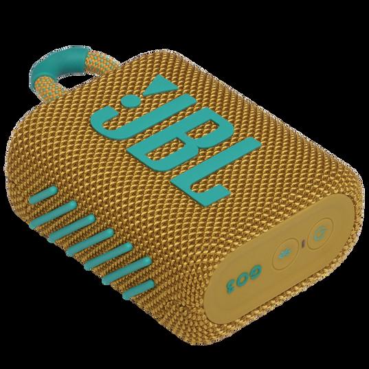 JBL GO 3 - Yellow - Portable Waterproof Speaker - Detailshot 3