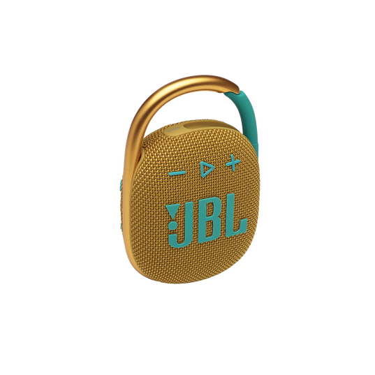 JBL CLIP 4 - Yellow - Ultra-portable Waterproof Speaker - Hero