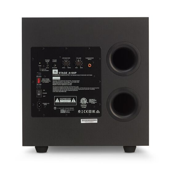JBL Stage A100P - Black - Home Audio Loudspeaker System - Back