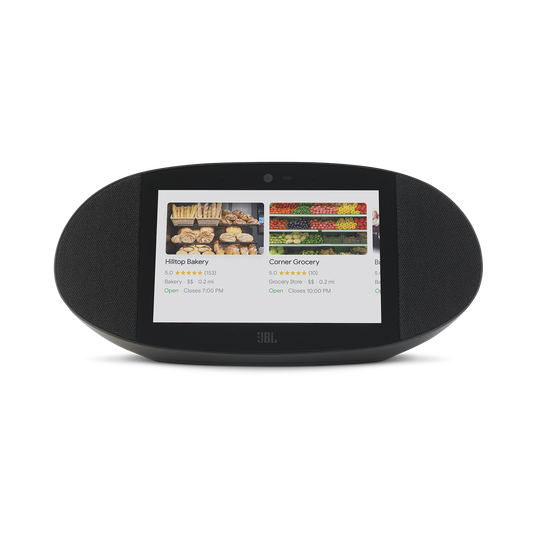 JBL LINK VIEW - Black - JBL legendary sound in a Smart Display with the Google Assistant. - Front