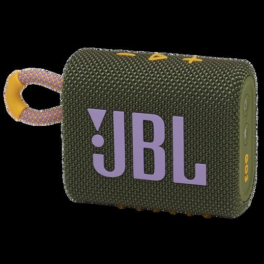 JBL GO 3 - Green - Portable Waterproof Speaker - Hero