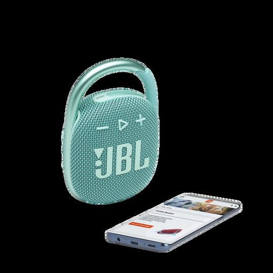 JBL CLIP 4 - Teal - Ultra-portable Waterproof Speaker - Detailshot 1