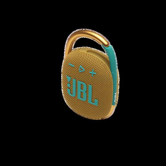 JBL CLIP 4 - Yellow - Ultra-portable Waterproof Speaker - Detailshot 2