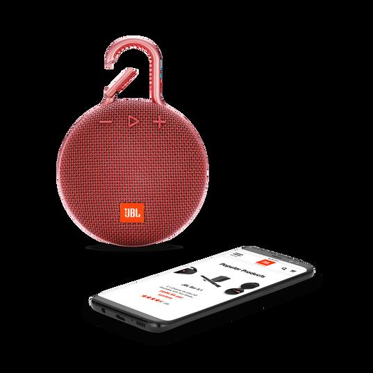 JBL CLIP 3 - Fiesta Red - Portable Bluetooth® speaker - Detailshot 1