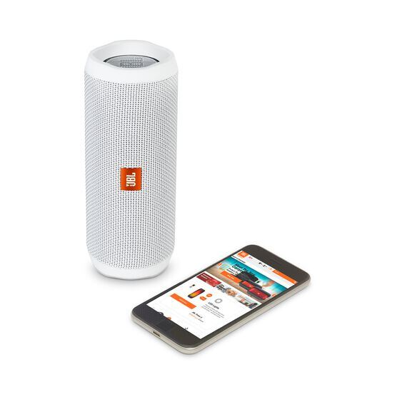 JBL Flip 4 - White - A full-featured waterproof portable Bluetooth speaker with surprisingly powerful sound. - Detailshot 2