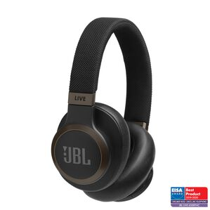 JBL LIVE 650BTNC - Black - Wireless Over-Ear Noise-Cancelling Headphones - Hero