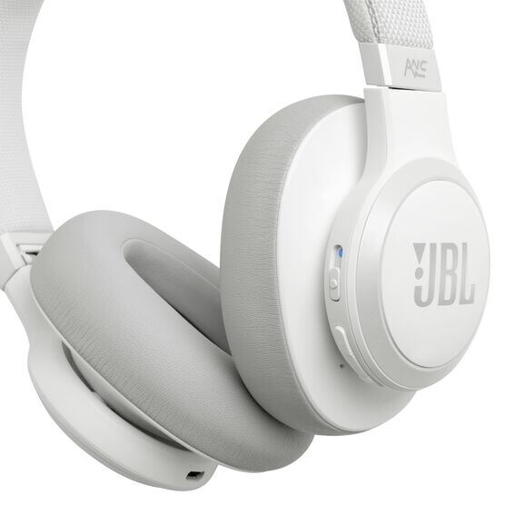 JBL LIVE 650BTNC - White - Wireless Over-Ear Noise-Cancelling Headphones - Detailshot 4