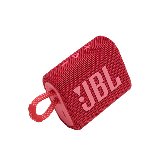 JBL GO 3 - Red - Portable Waterproof Speaker - Detailshot 1