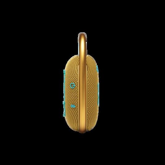JBL CLIP 4 - Yellow - Ultra-portable Waterproof Speaker - Left
