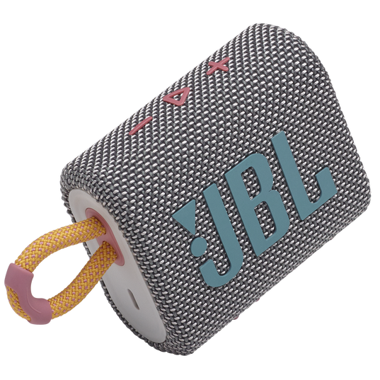JBL GO 3 - Grey - Portable Waterproof Speaker - Detailshot 1