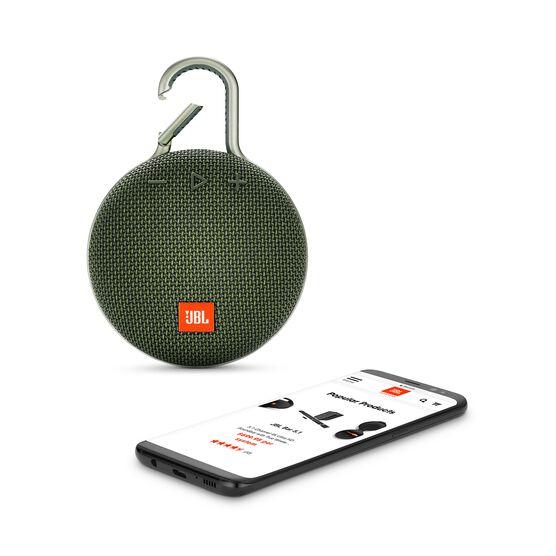JBL CLIP 3 - Forest Green - Portable Bluetooth® speaker - Detailshot 1