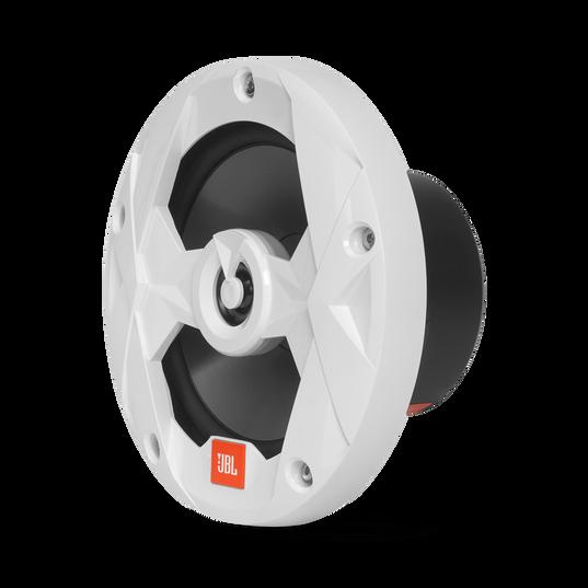 "Club Marine MS65LW - White Gloss - 6-1/2"" (160mm) two-way marine audio speaker with RGB lighting – White - Left"