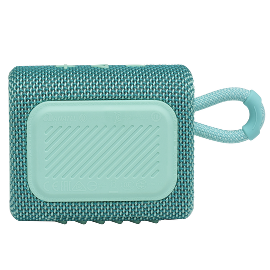 JBL GO 3 - Teal - Portable Waterproof Speaker - Back