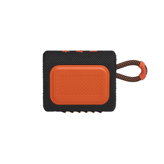 JBL GO 3 - Black / Orange - Portable Waterproof Speaker - Back