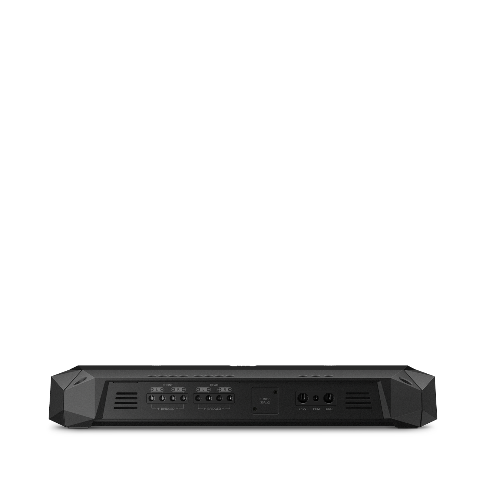 Club 704 - Black - high-performance 4-channel car amplifier - Front
