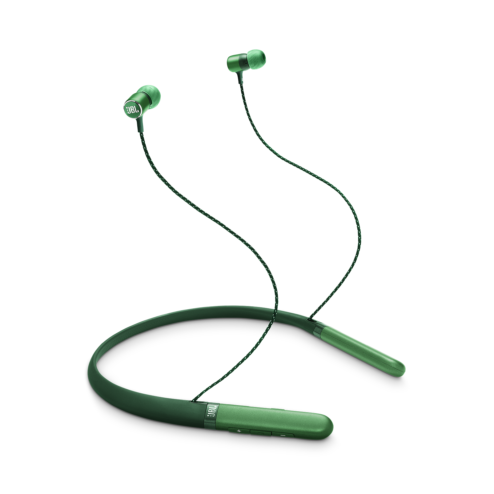 JBL LIVE 200BT - Green - Wireless in-ear neckband headphones - Hero