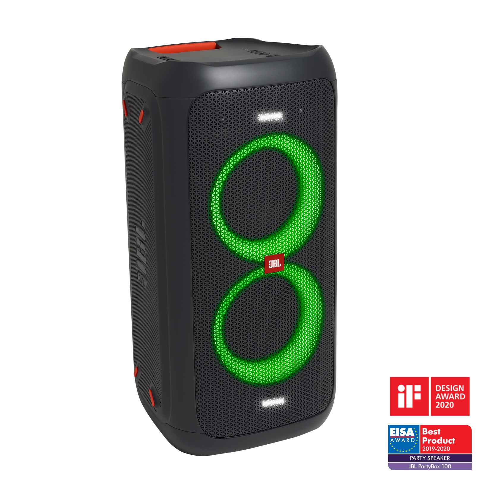China:- - Black - Powerful portable Bluetooth party speaker with dynamic light show - Hero