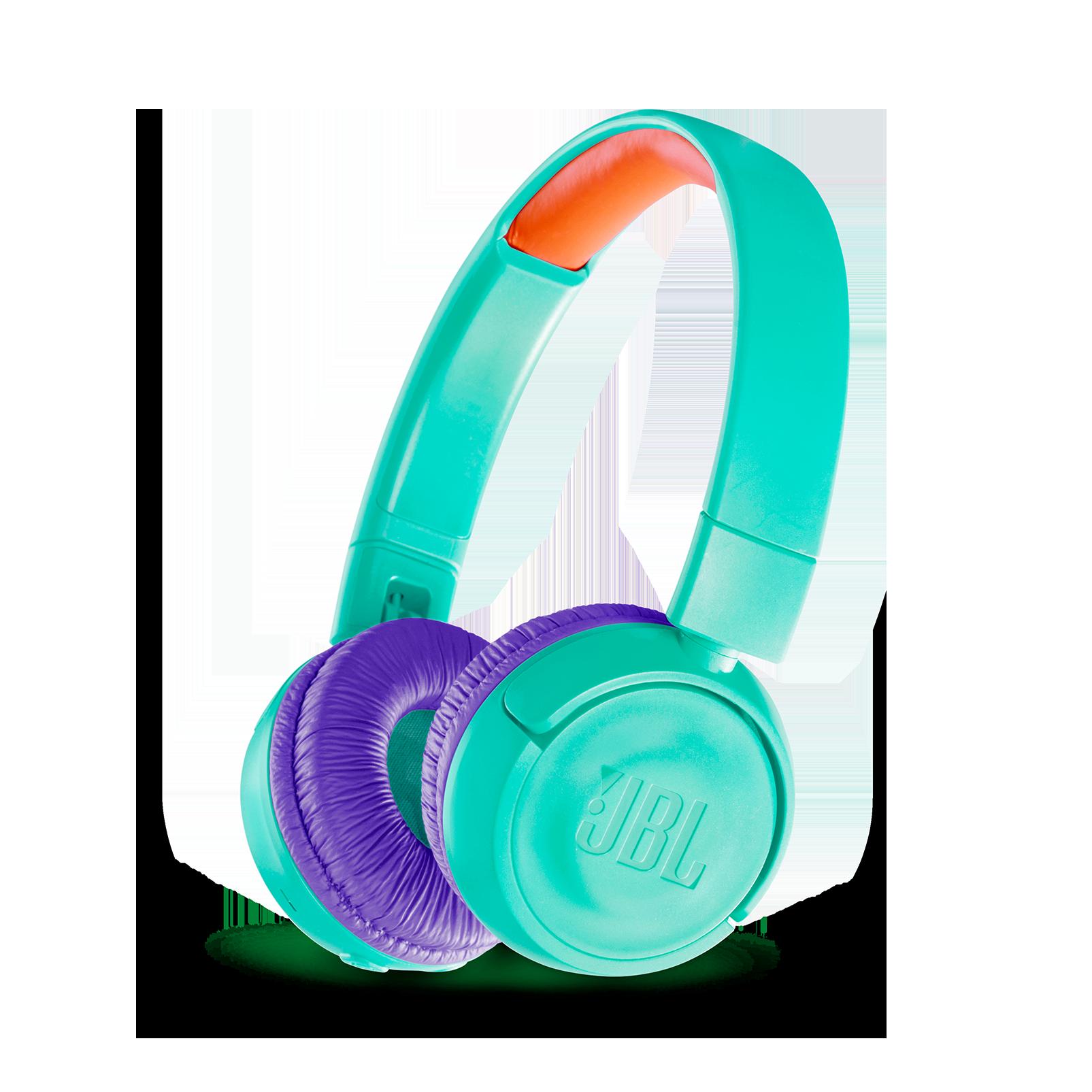 JBL JR300BT - Tropic Teal - Kids Wireless on-ear headphones - Hero
