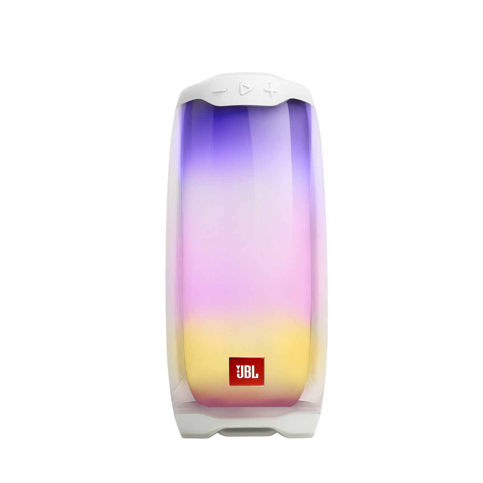 JBL Pulse 4 - White - Portable Bluetooth Speaker - Hero