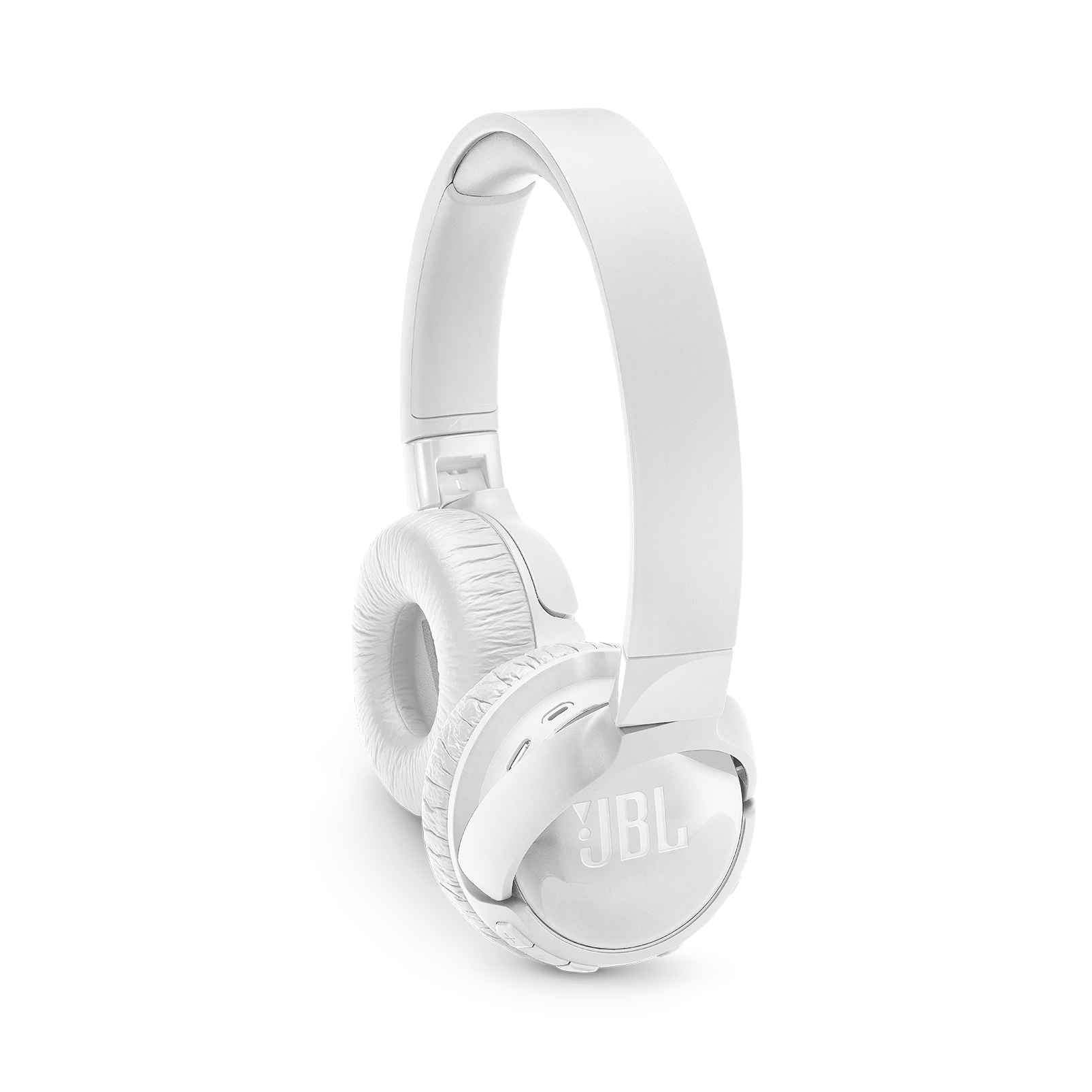 JBL TUNE 600BTNC - White - Wireless, on-ear, active noise-cancelling headphones. - Detailshot 1