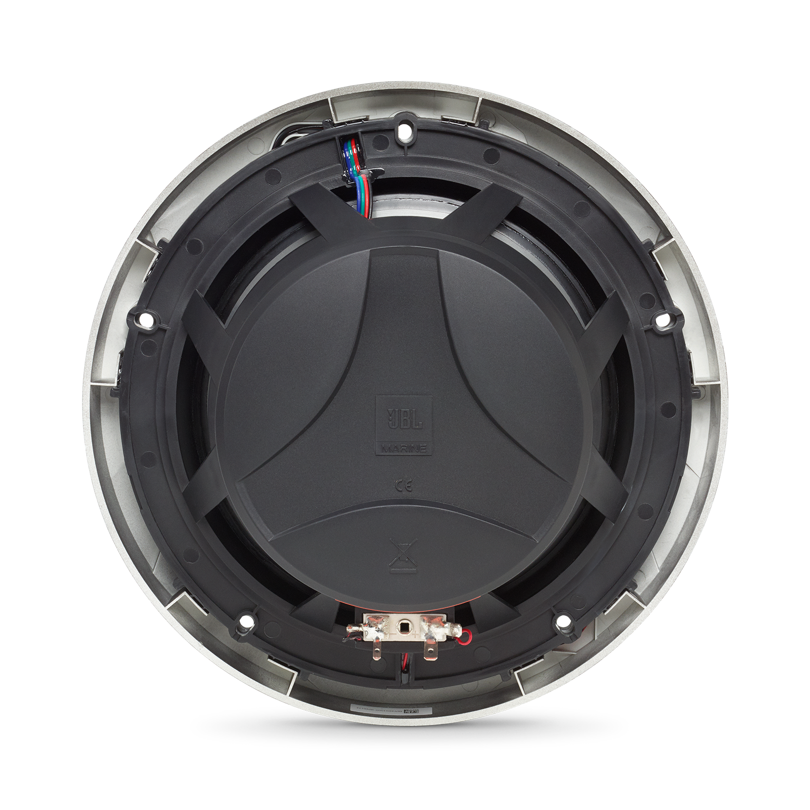 "Club Marine MS8B - Black Matte - Club Marine MS8B—8"" (200mm) two-way marine audio multi-element speaker – Black - Back"