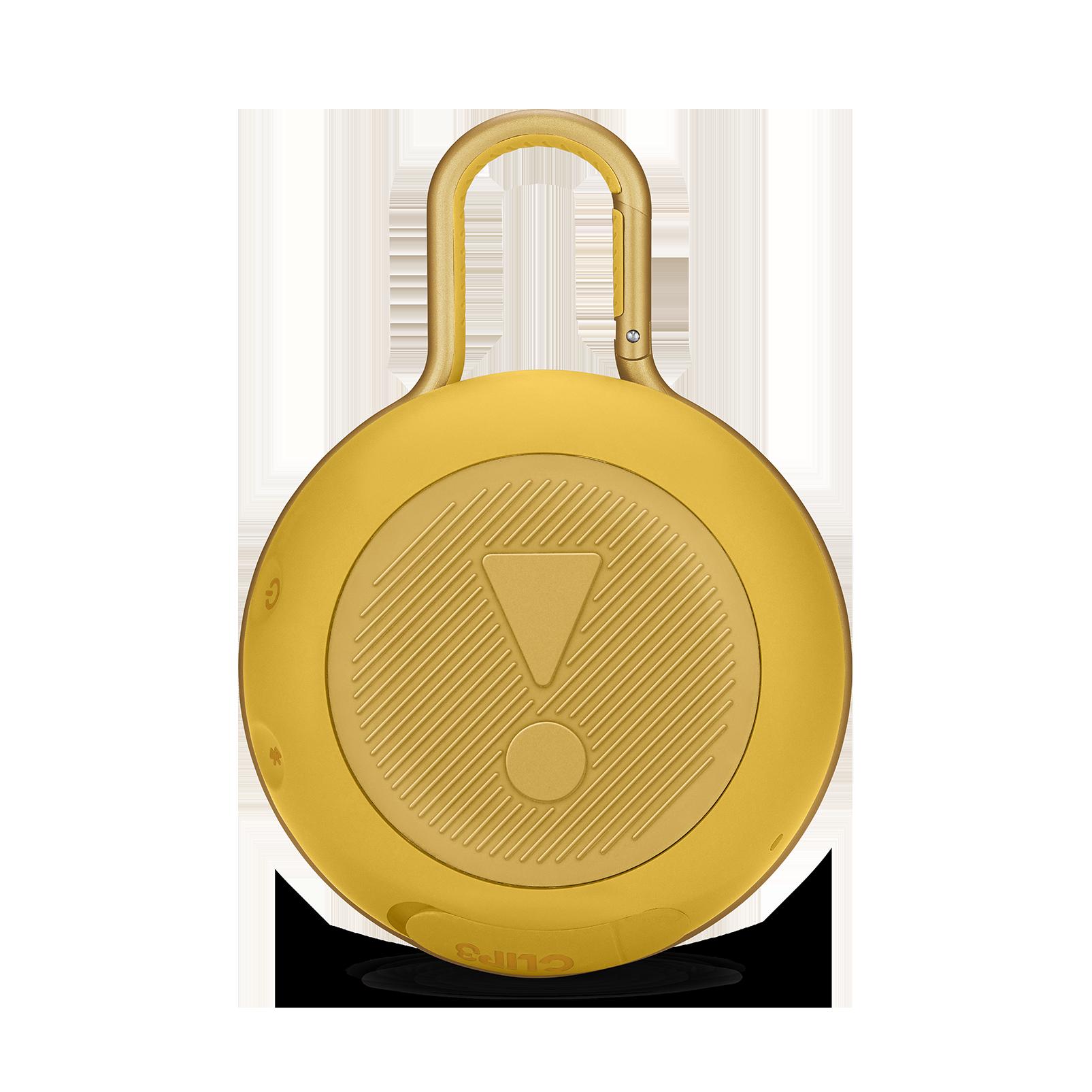 JBL CLIP 3 - Mustard Yellow - Portable Bluetooth® speaker - Back