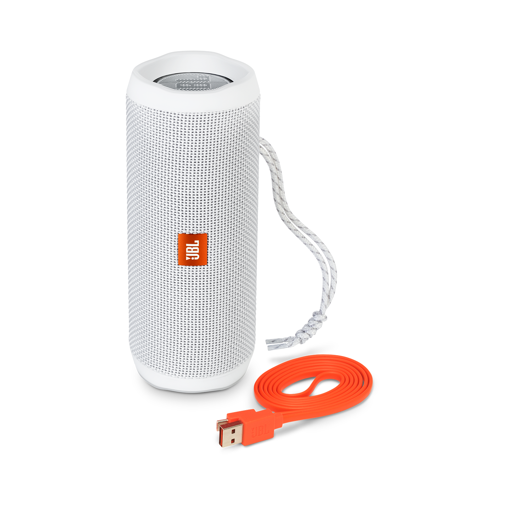 JBL Flip 4 - White - A full-featured waterproof portable Bluetooth speaker with surprisingly powerful sound. - Detailshot 1